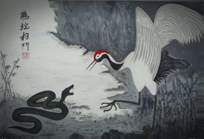 la grulla y la serpiente